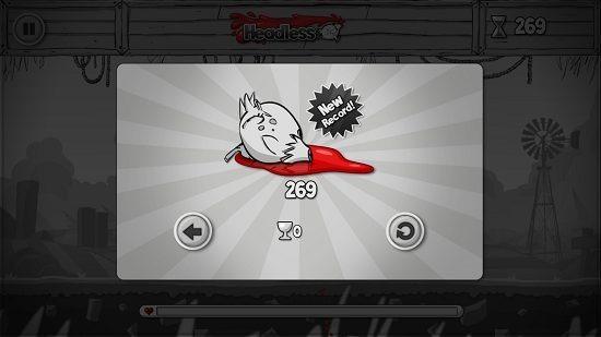Headless game score