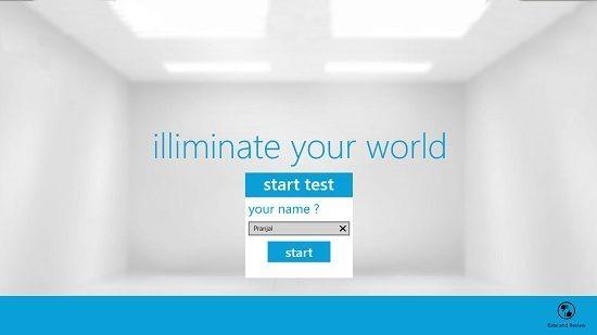 Illuminate Your World Enter Name