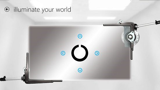 Illuminate Your World click arrow on opening of circle