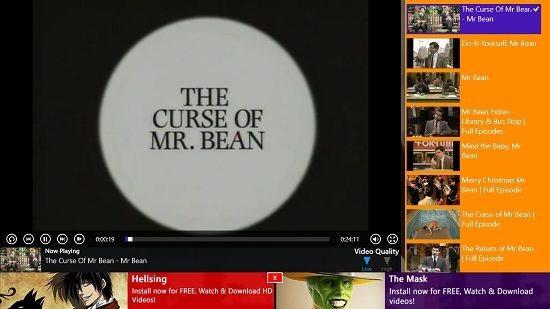 Mr. Bean videos video playback