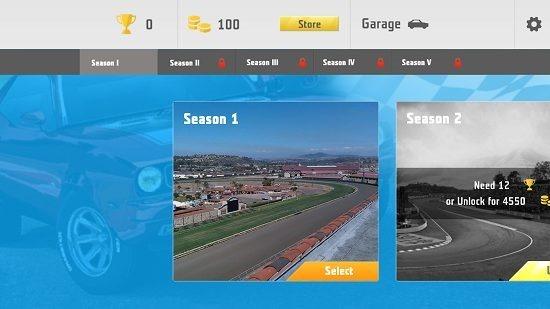 Need For Racing select season