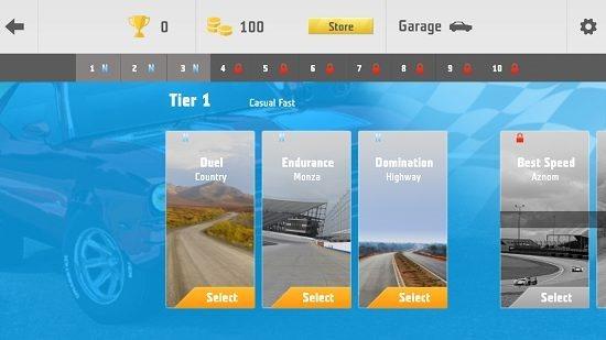 Need For Racing select tier