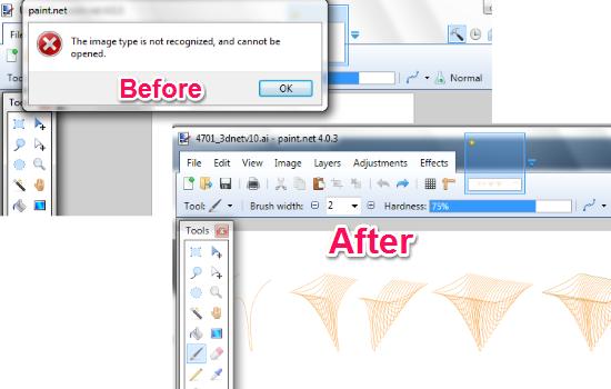 Open Adobe Illustrator .ai File in Paint.NET
