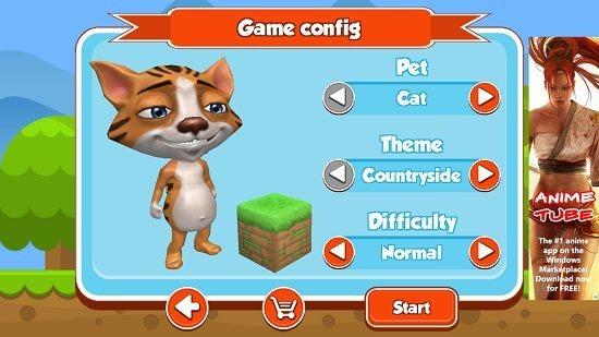 Pet Run select settings