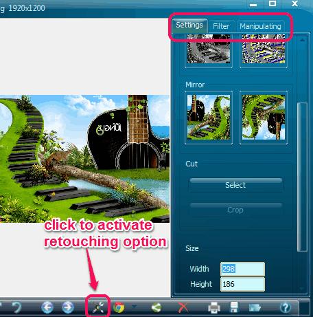 Photo Retouching option
