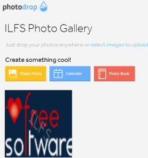 Photodrop- online photo sharing website