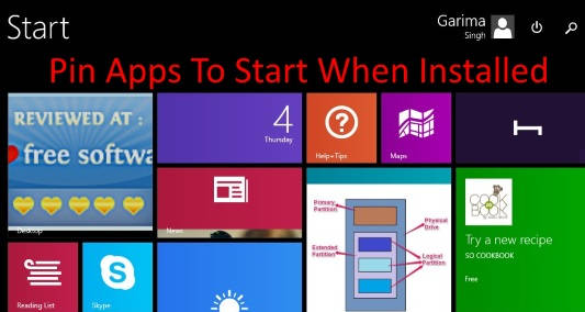 Pin Apps To Start When Installed