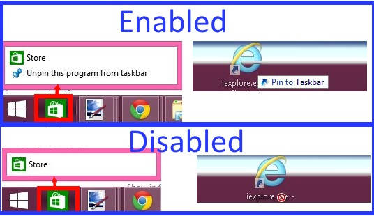 Prevent Users From Pinning Programs To Taskbar