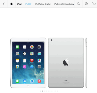 Product Images on Apple Store