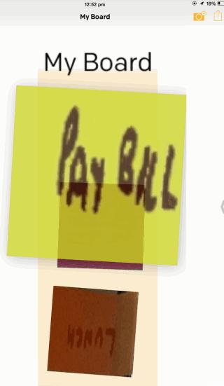 Rearranging Sticky Notes