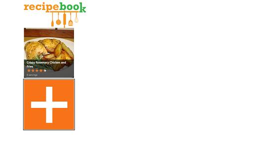 RecipeBook main screen