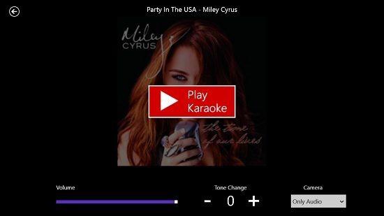 Red Karaoke karoke playback screen