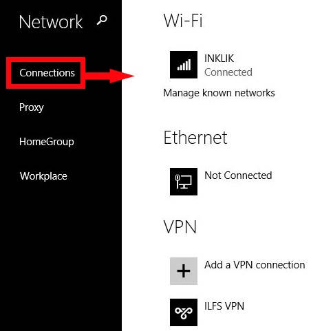 Sharing File and Devices-Connections