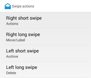 Swipe Actions