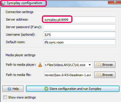 Syncplay Configurations