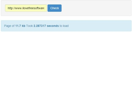 check loading speed of websites