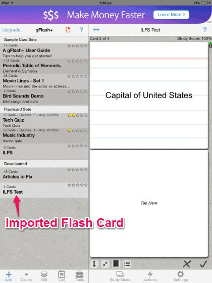 Using Imported Spreadsheet