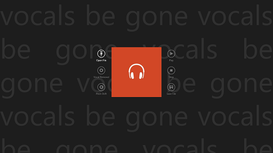 Vocals Be Gone Main Screen