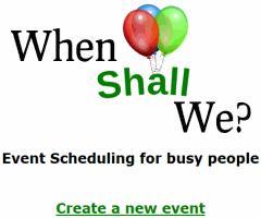 WhenShallWe- online meeting scheduler