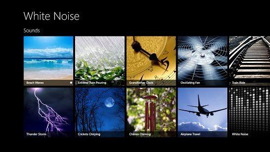 White Noise main screen