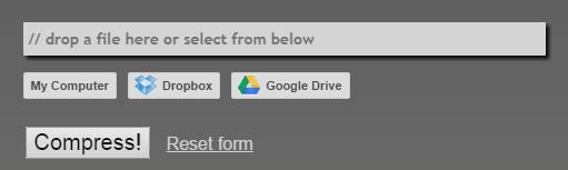 add a PDF file to compress