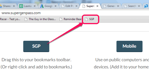 add bookmarklet to browser's bookmarks bar