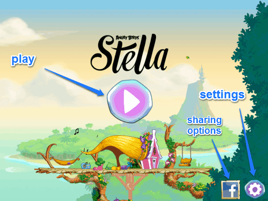 angry birds stella loading screen
