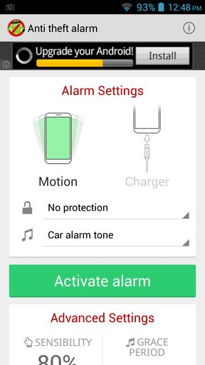 anti theft alarm apps for Android 1