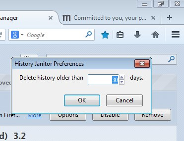 browsing history cleaner addons firefox 4