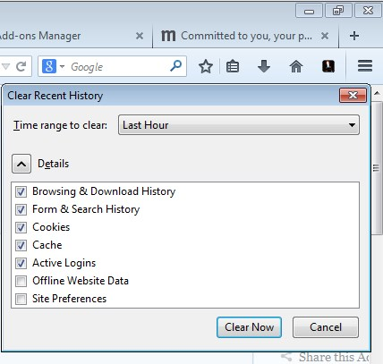 browsing history cleaner addons firefox 5