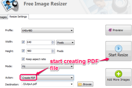 create PDF file from images