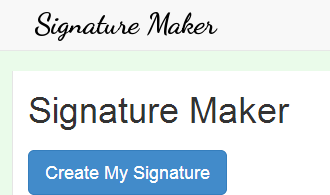 create my signature
