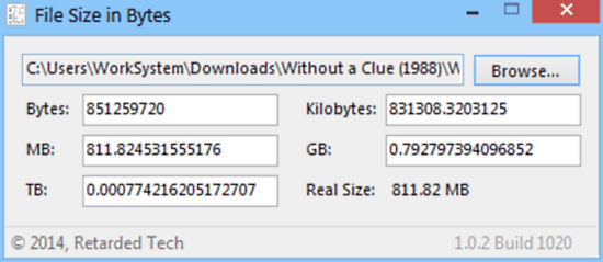 file size in bytes usage