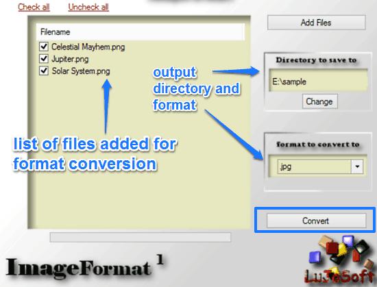 format conversion