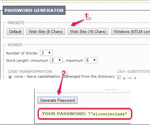 generate long memorable passwords