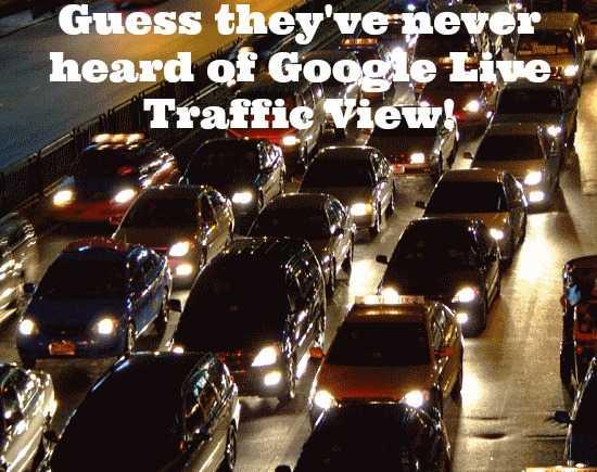 google live traffic view header