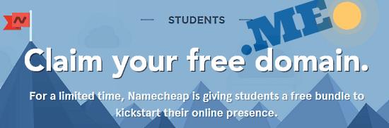 namecheap for education header