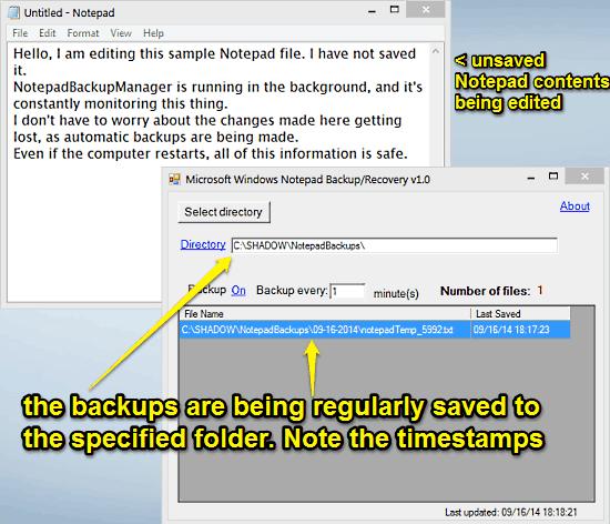 notepadbackupmanager saving