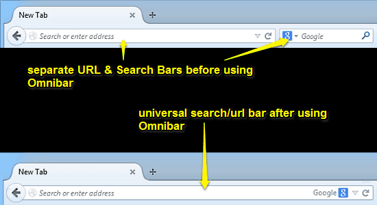 omnibar before and after