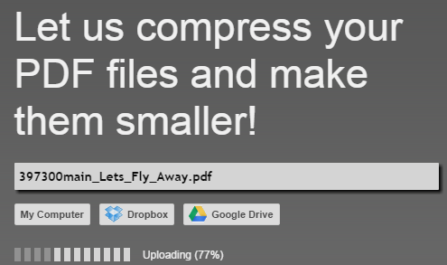 online compress PDF file to highly reduce PDF size