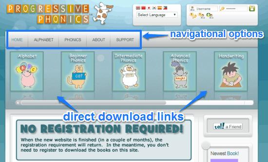 progressive phonics homepage