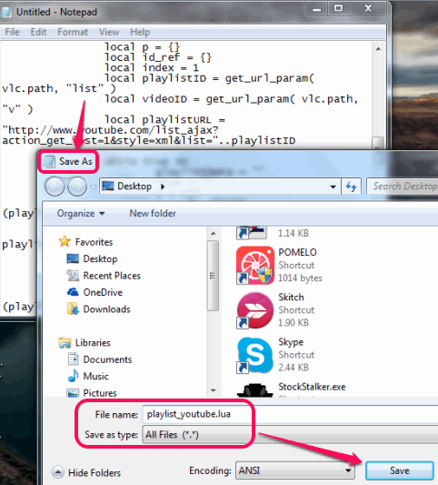 save script as playlist_youtube.lua name