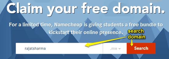 search namecheap domain