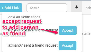 send request and accept request