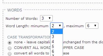 set number of words