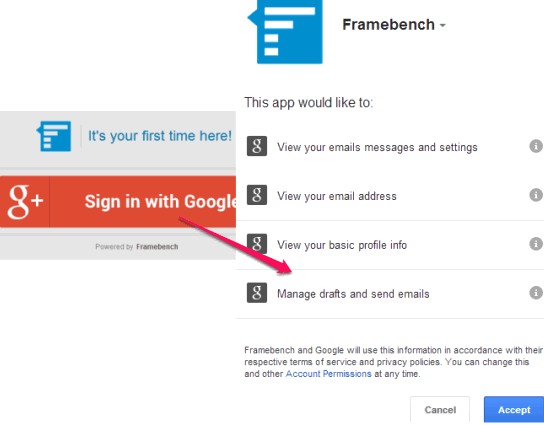 sign in with Google account
