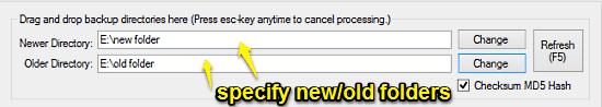 specify folders
