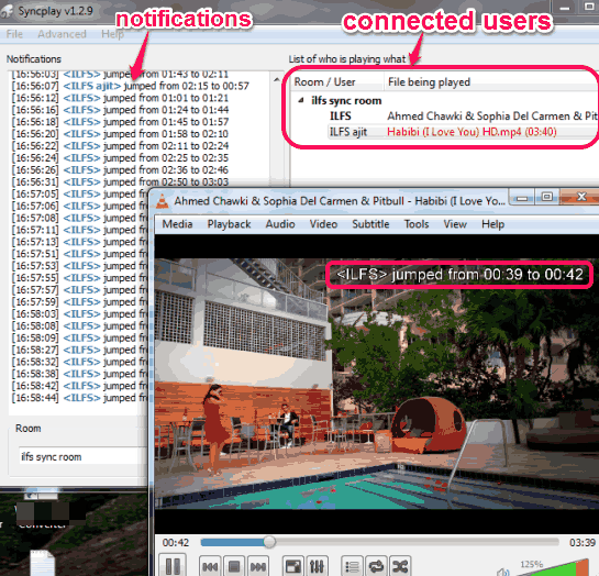 synchronize VLC playback on multiple PCs