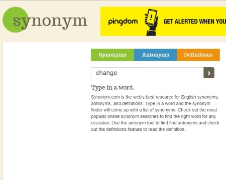find synonyms antonyms