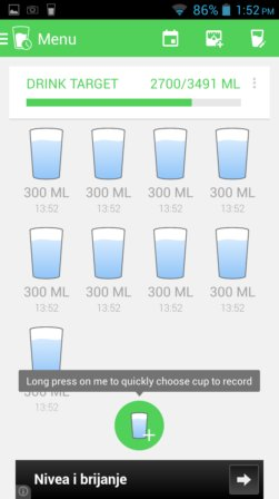 water drinking reminder apps android 4